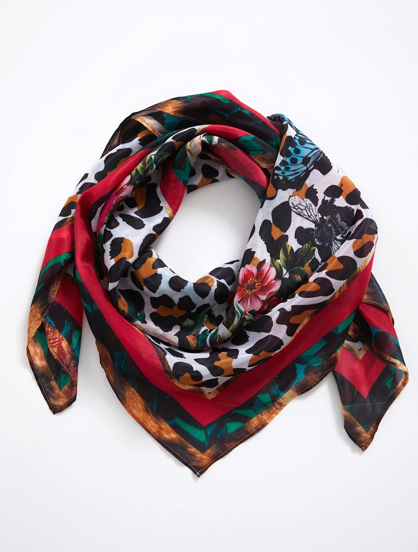 BrownLeo Silk Scarf