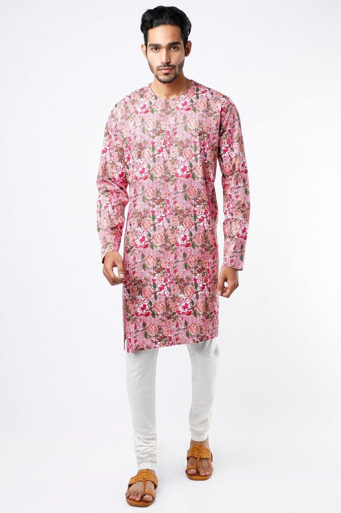 Amar Pink Cotton Kurta Pant Set