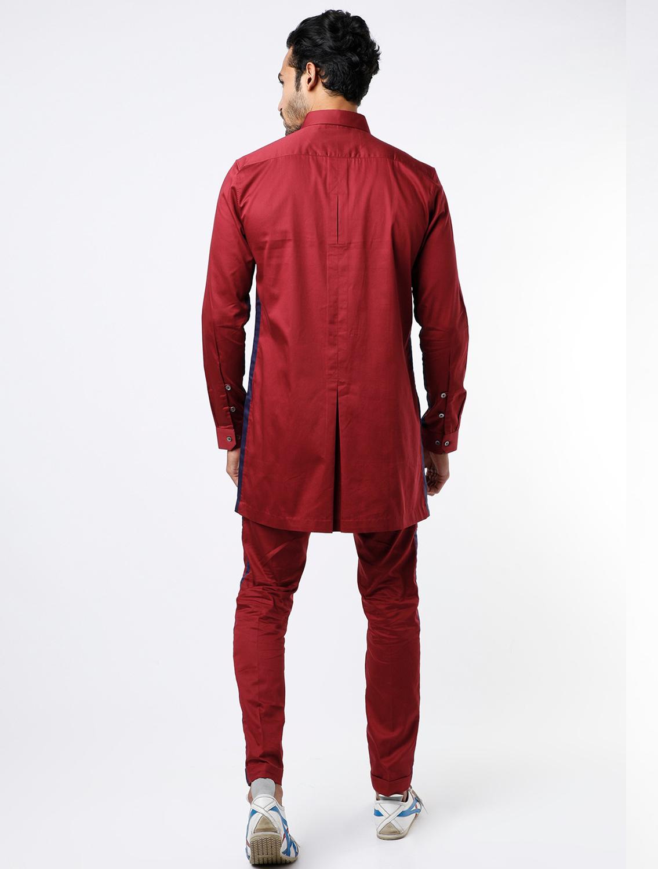 Safary Maroon Shirt Pant Set