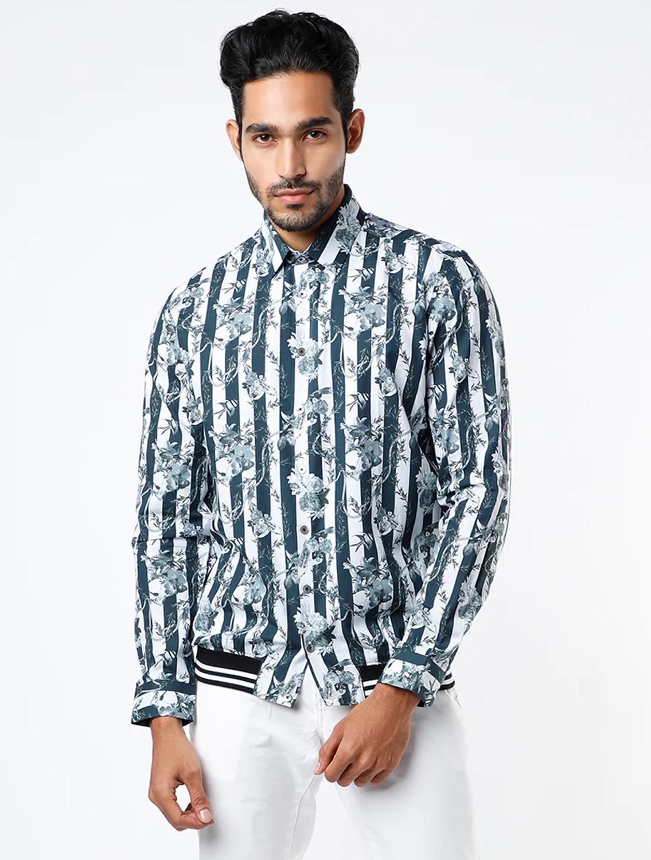 Pique Bomber Style Shirt
