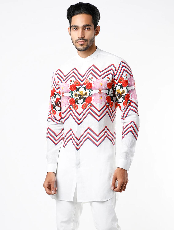 Nicholas White Linen Shirt