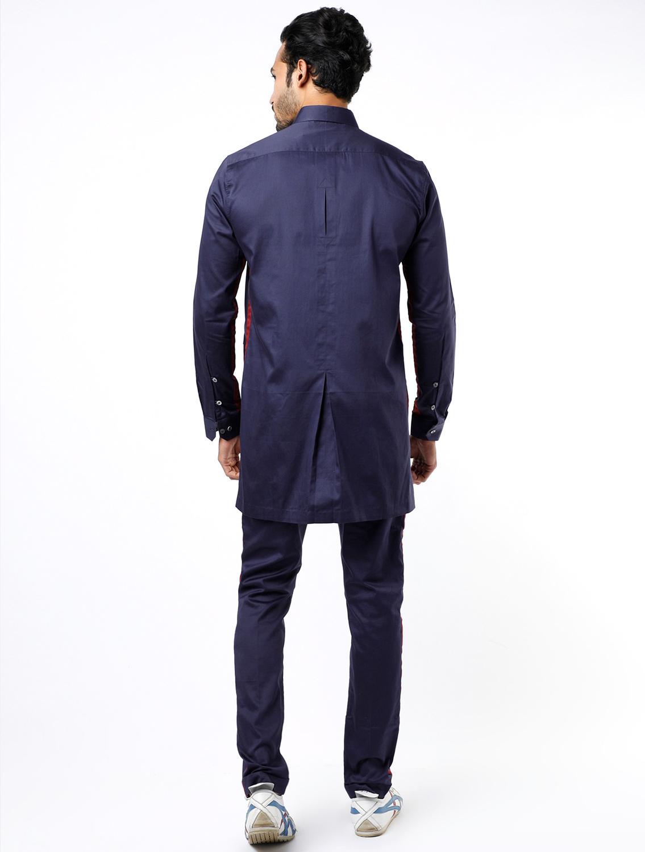 Safary Navy Shirt Pant Set