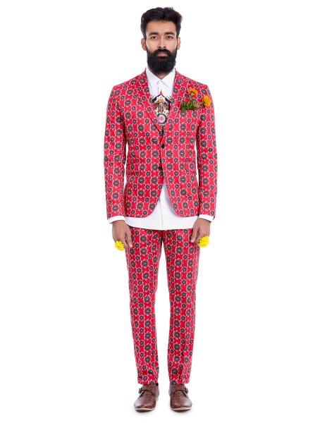Geom Lotus Red Suit