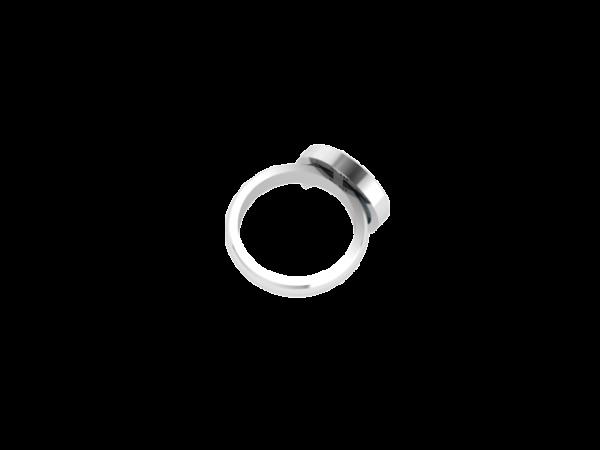 Sterling Silver Labradorite Moon Ring