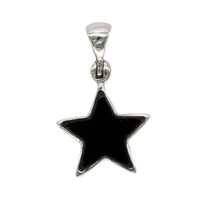 Sterling Silver Black Onyx Star Pendant