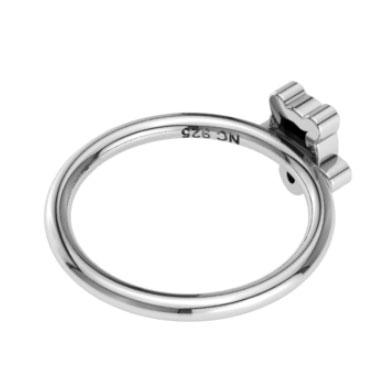 Sterling Silver Black Onyx Tortoise Stackable Rings (Pack of 12)