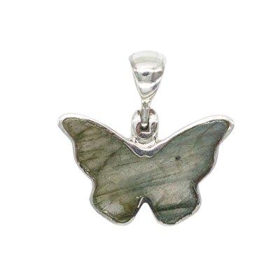Sterling Silver Labradorite Butterfly Pendant