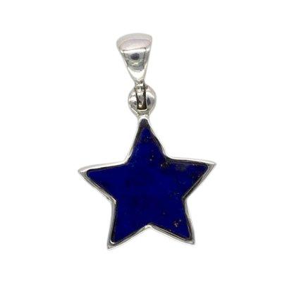 Sterling Silver Lapis Lazuli Star Pendant