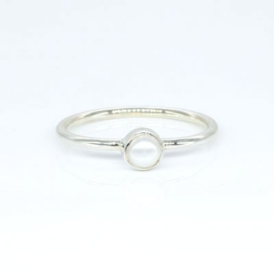 Sterling Silver Mother Of Pearl Assorted Stackable Rings (Pack of 12)