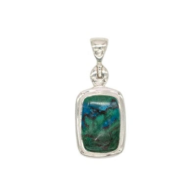 Sterling Silver Chrysocolla Assorted Pendant (Pack of 3)
