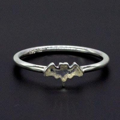 Sterling Silver Rainbow Moonstone Bat Stackable Rings (Pack of 12)