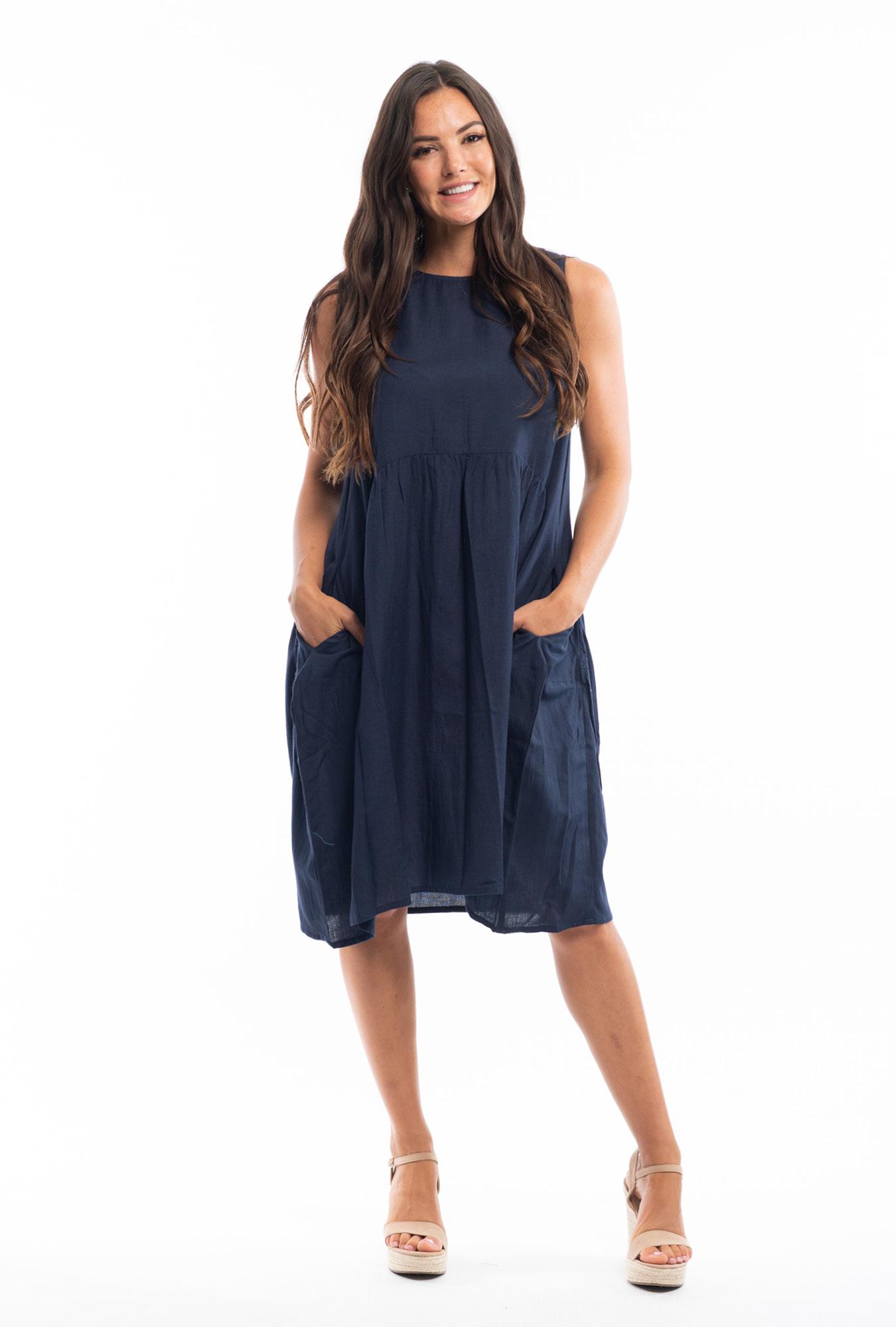 Tanee Bubble dress in Navy