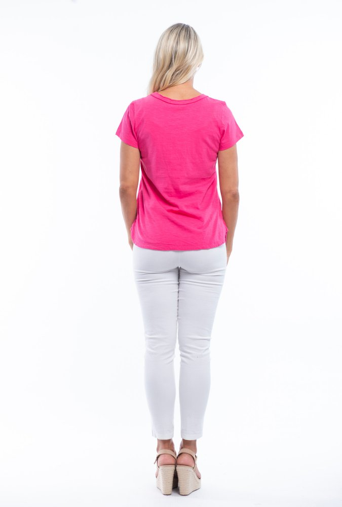 Holly Tee in Pink Orchid