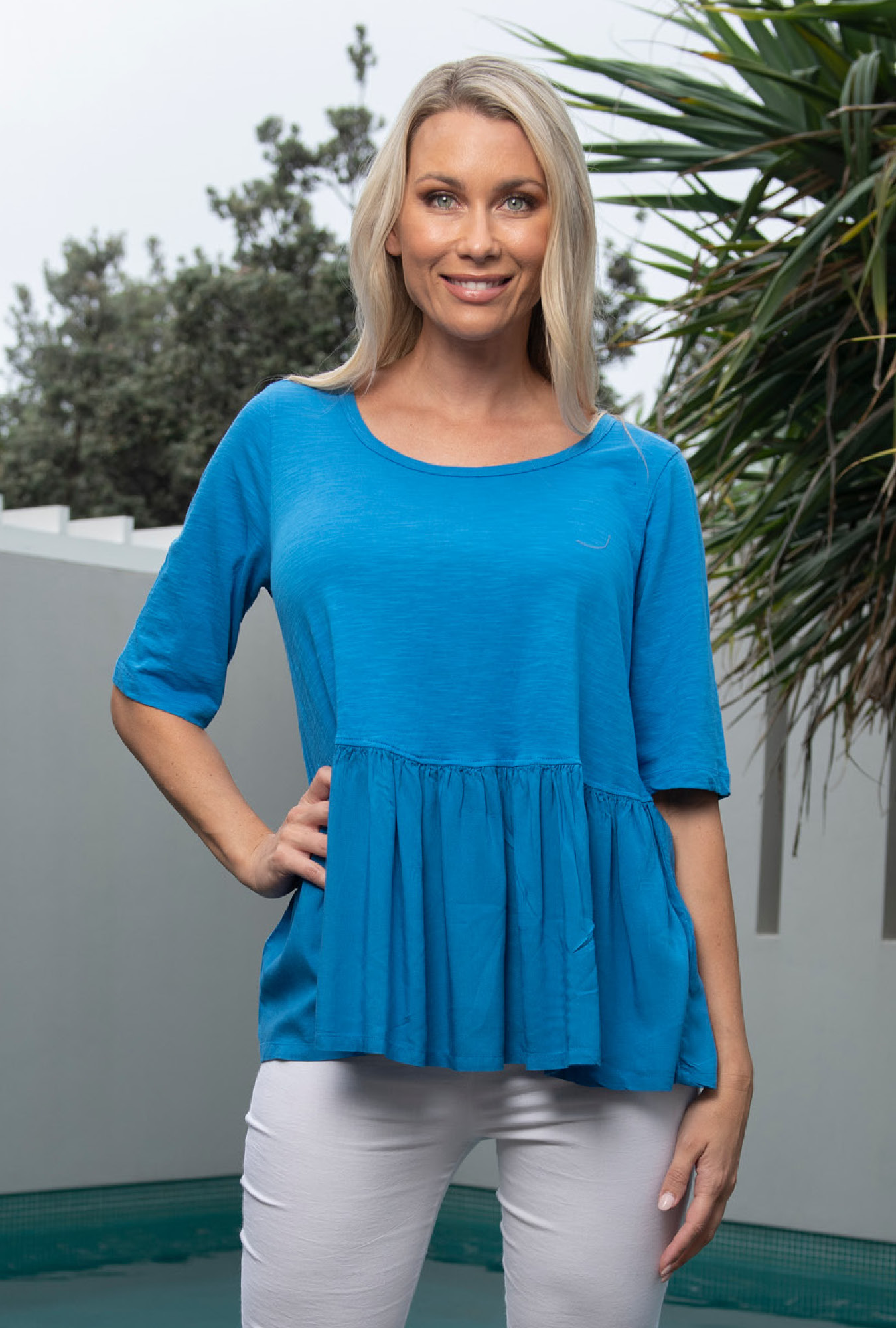 Sam Top in French Blue