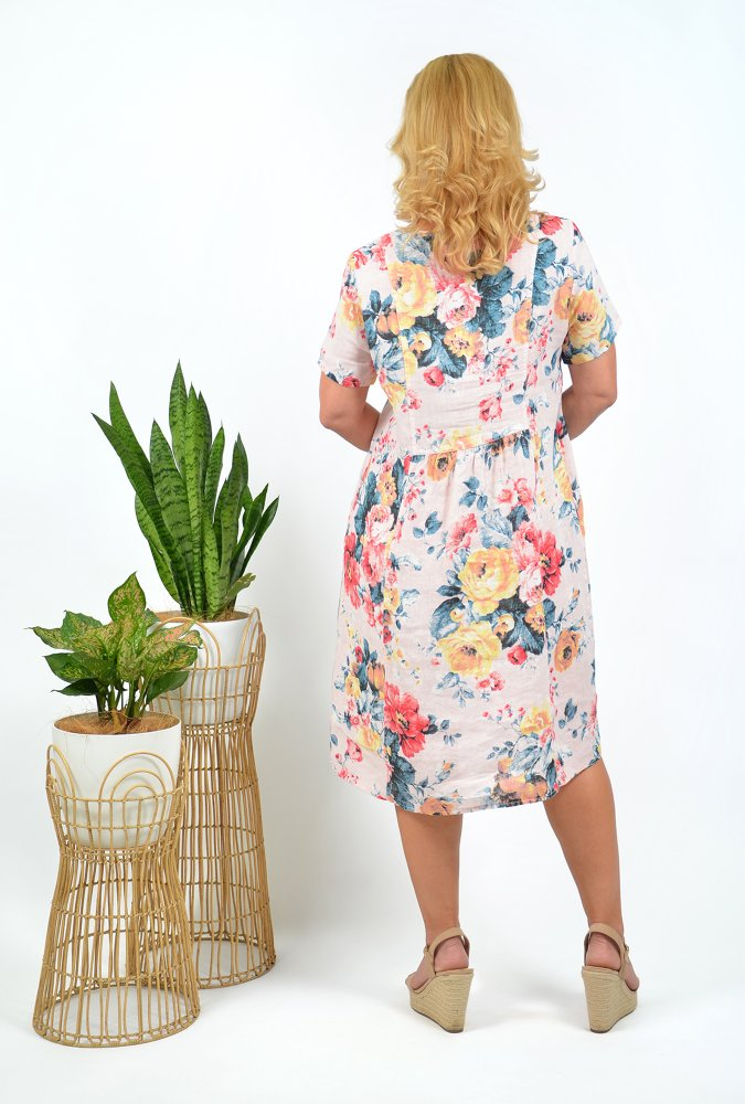 Florence Dress in Blush Floral