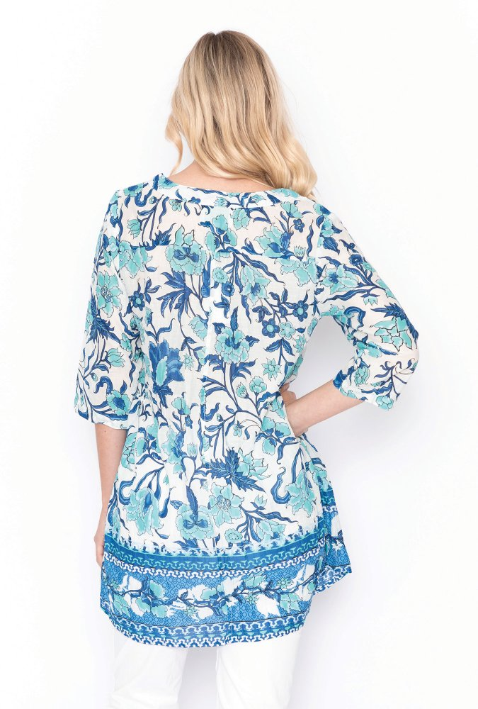 Rosa Tunic in Paisley Blue