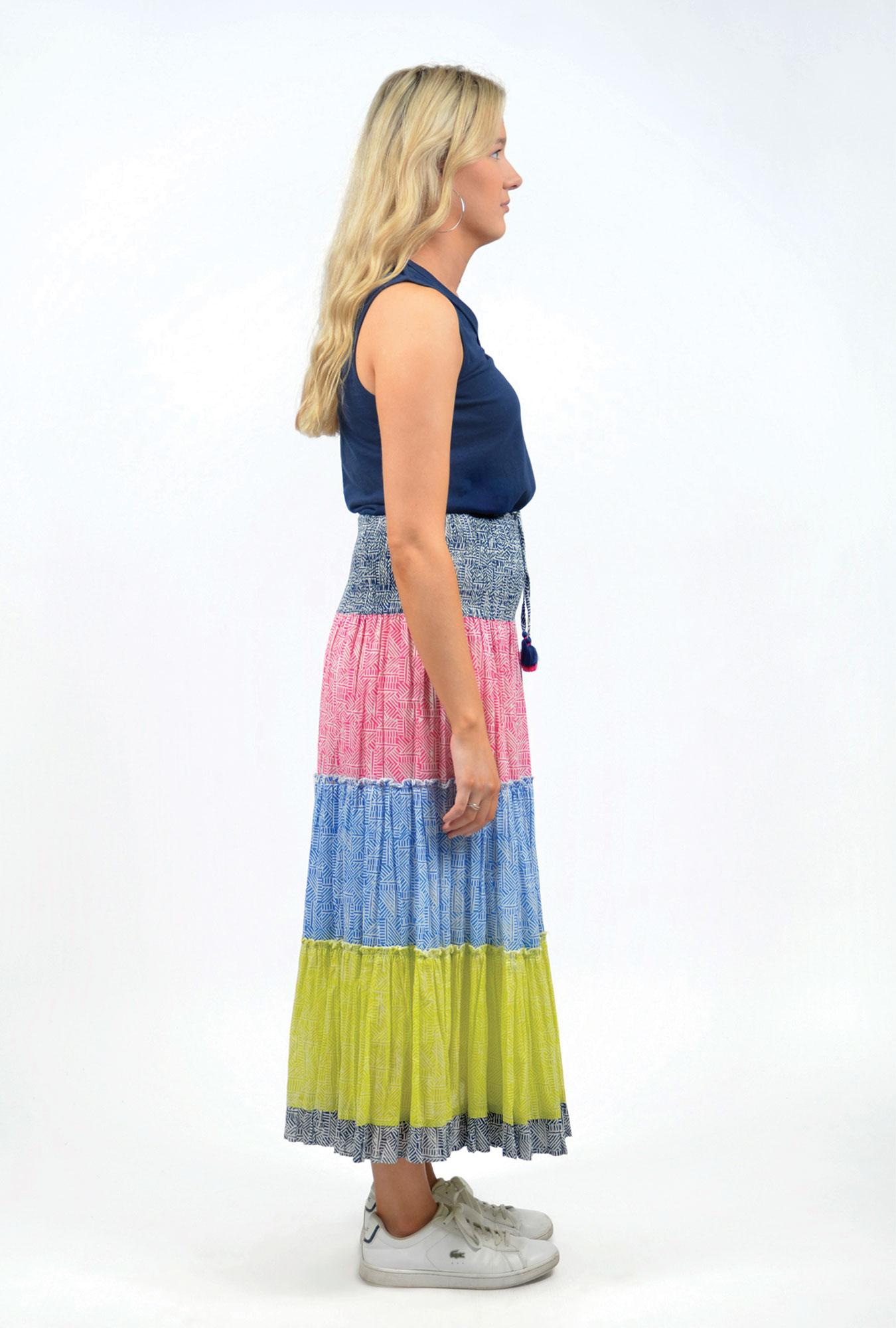 Georgia Maxi Skirt in Mono Mix