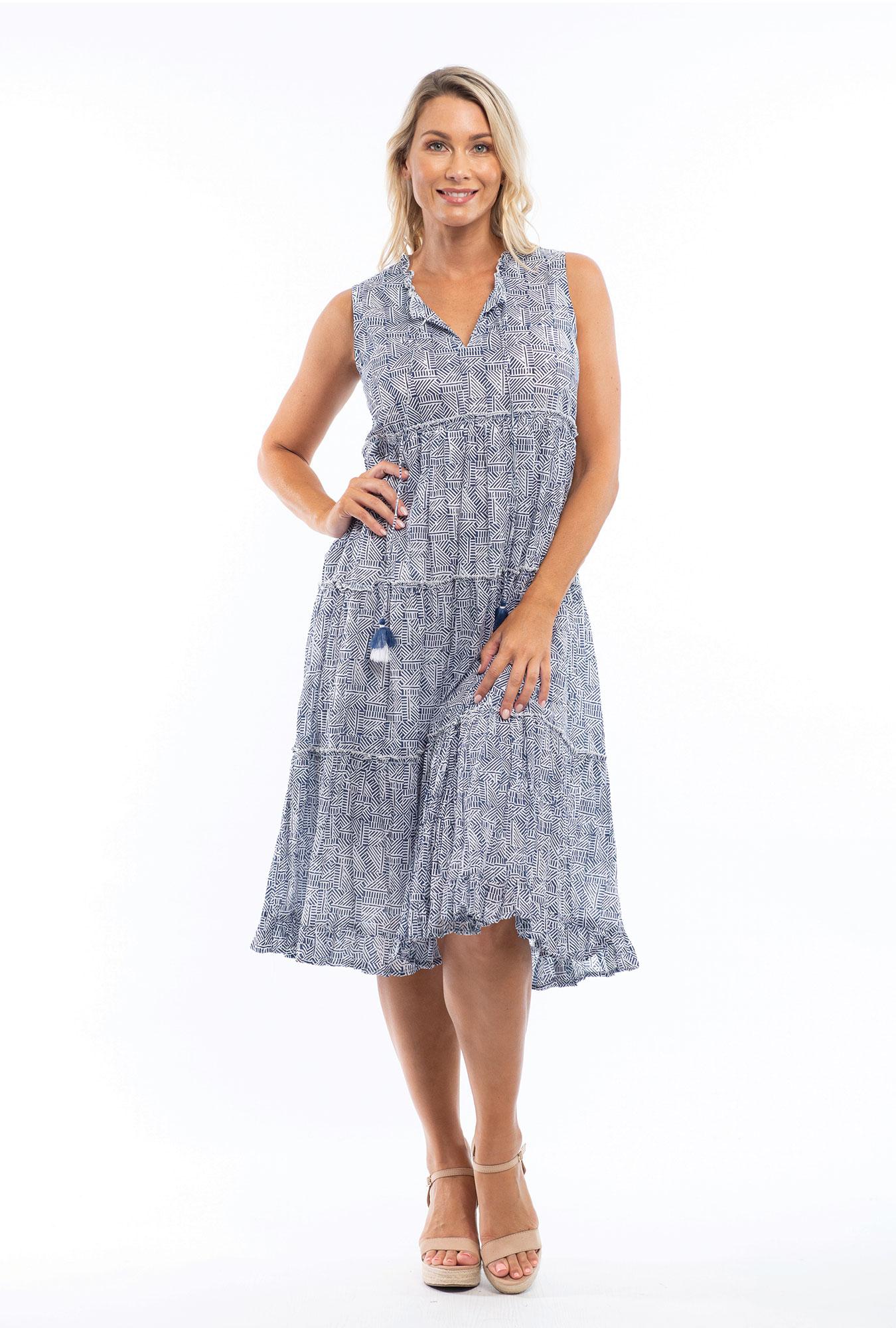 Farrah Midi Dress in Navy