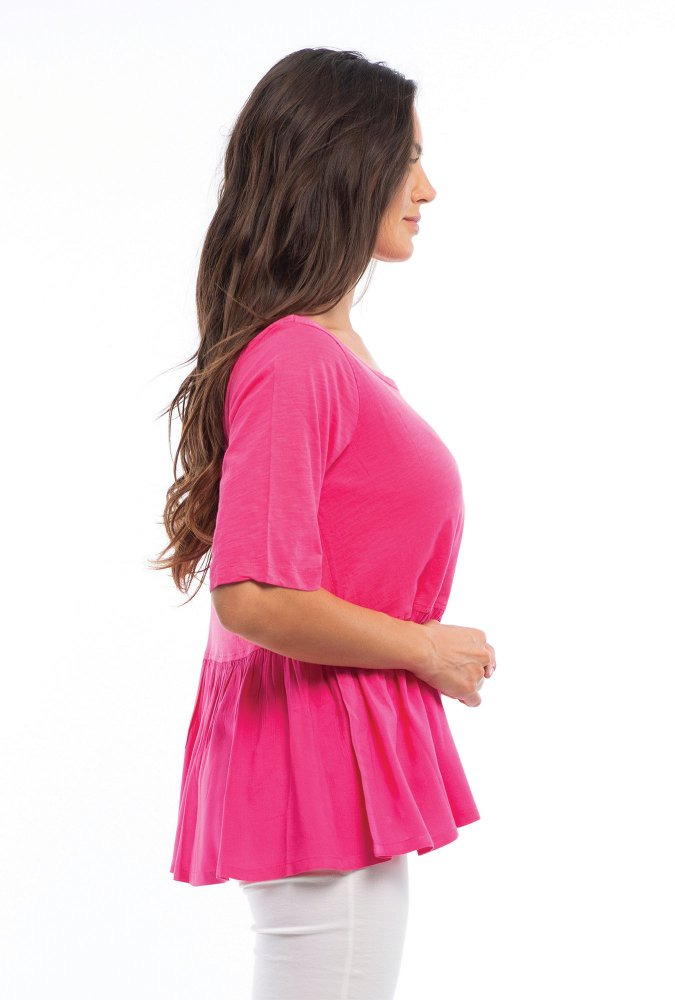 Sam Top in Pink Orchid