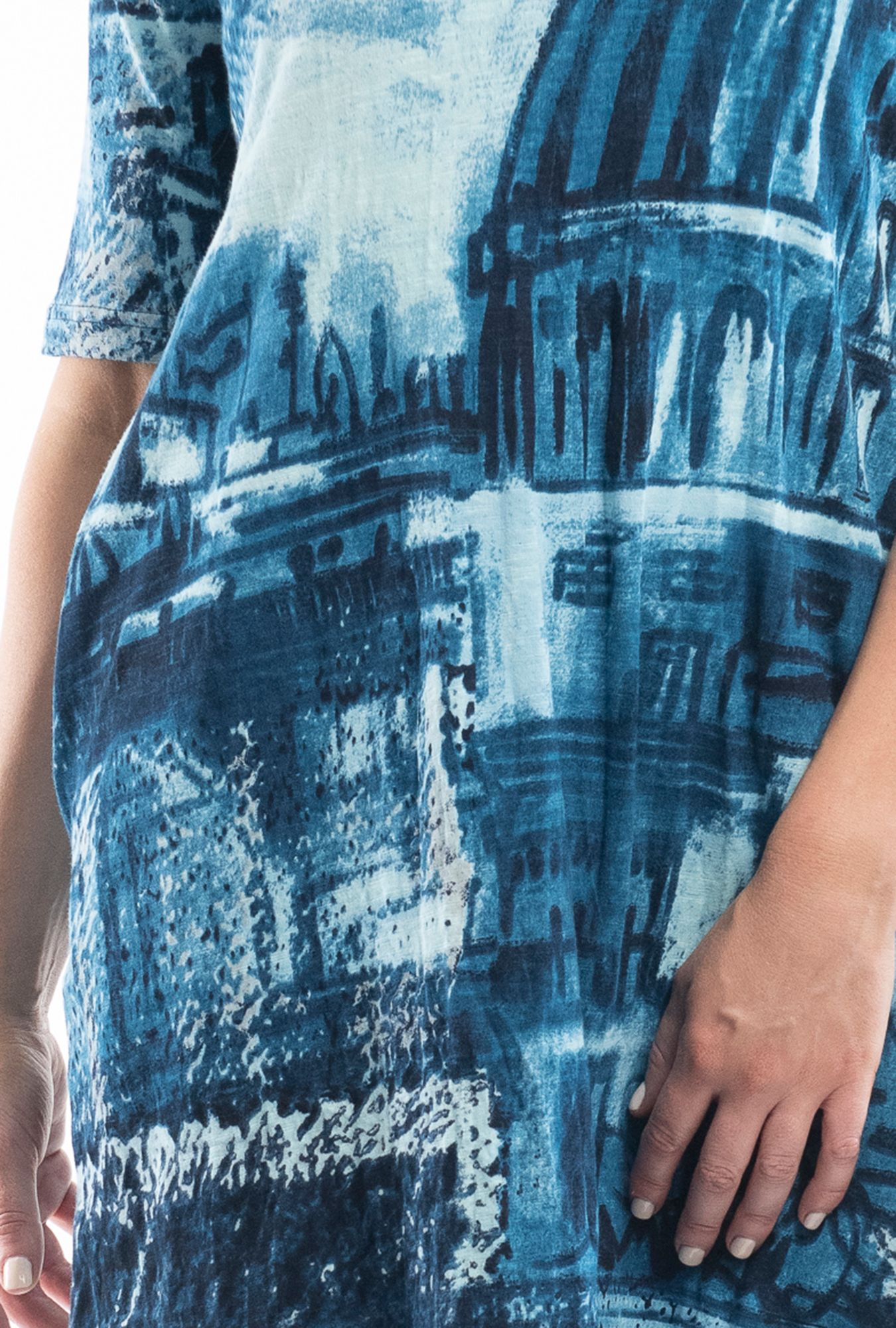 Denim Sketch Contemporary Dress
