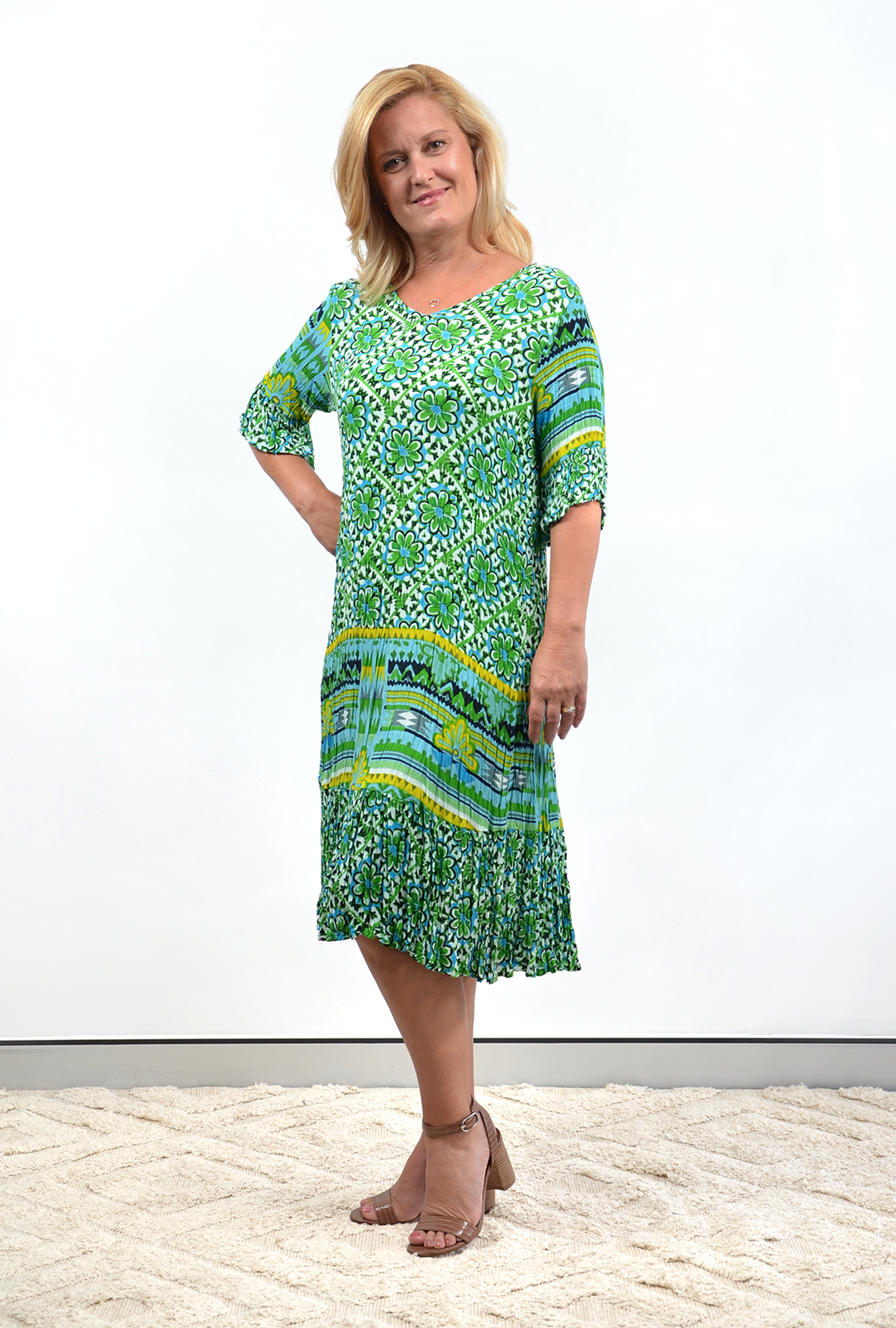 Stephy Dress in Green