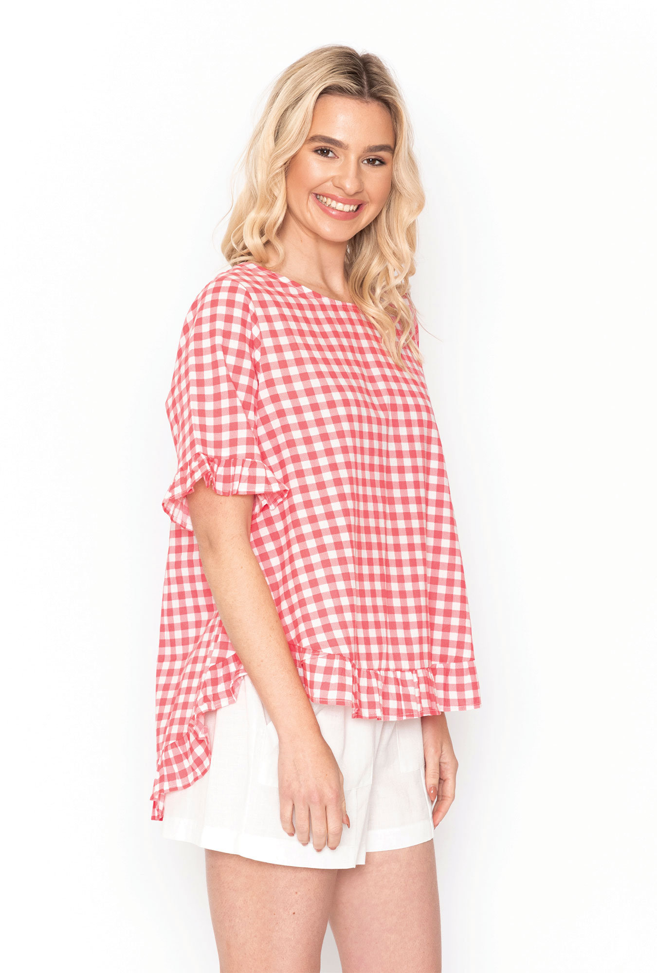 Penny Top in Coral