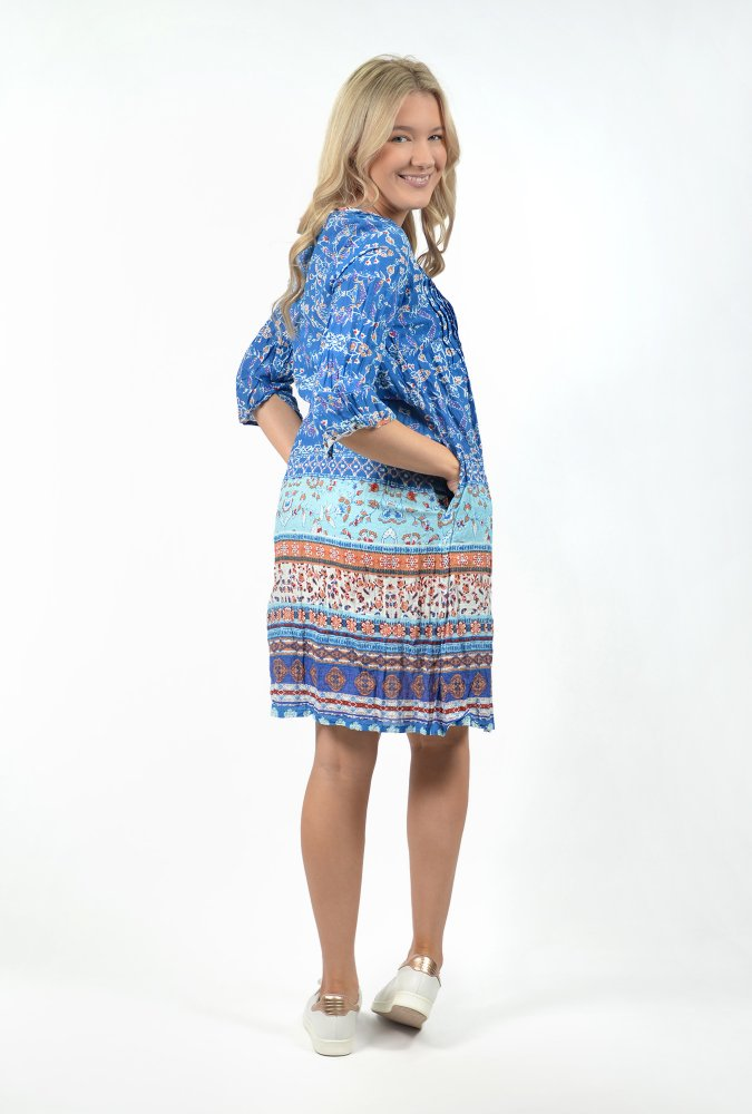 Carmen Dress in Royal Blue