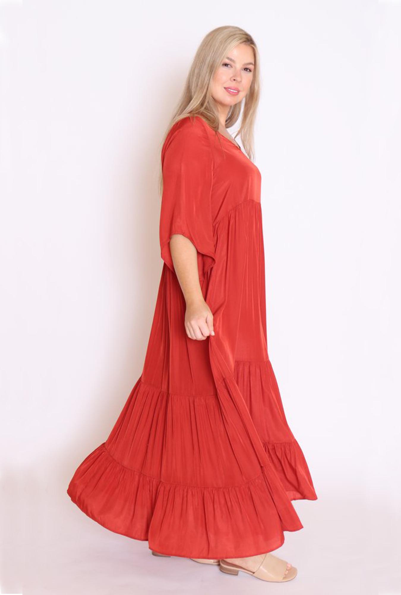 Tamara Dress In Rust