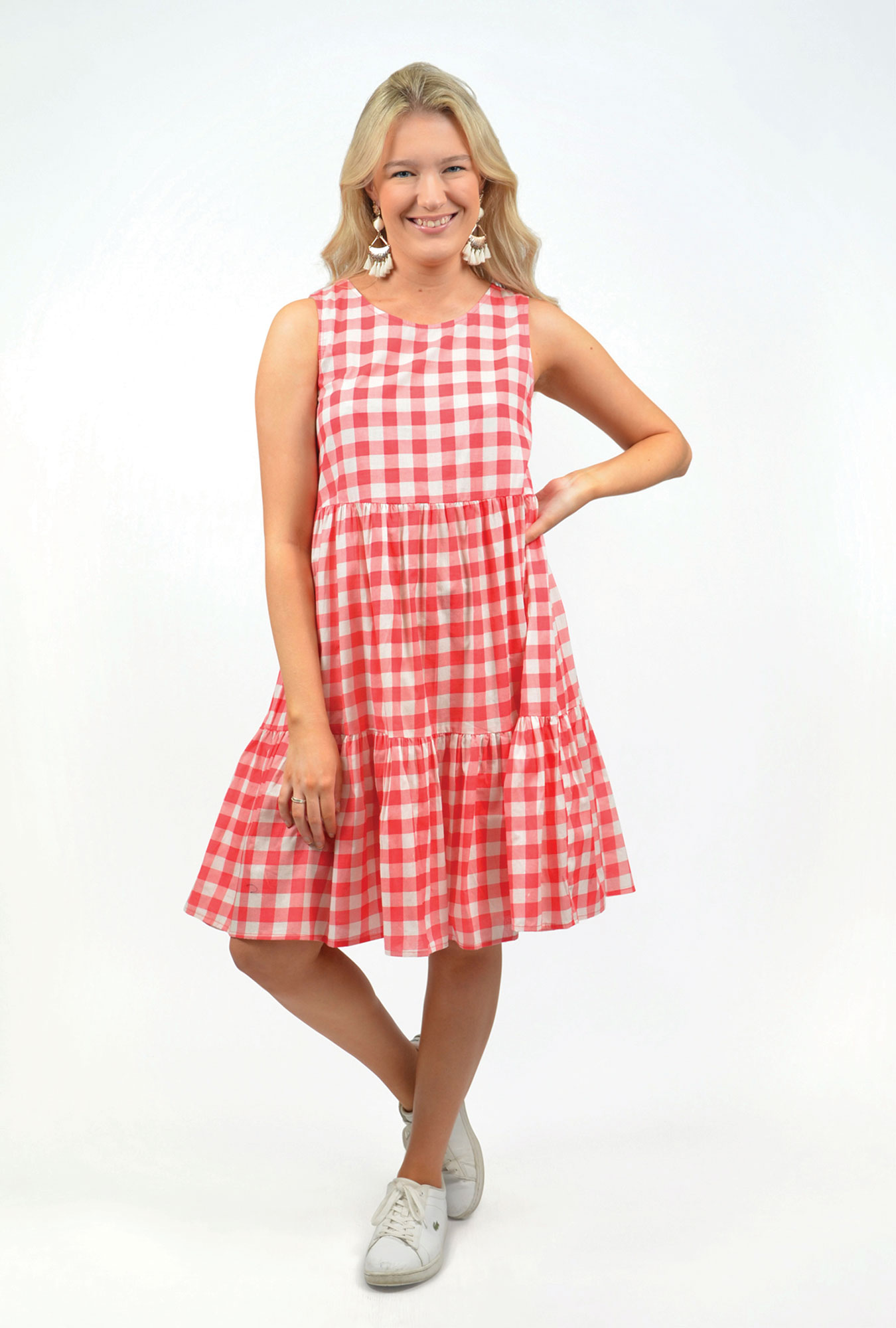 Phoebe Dress in Coral