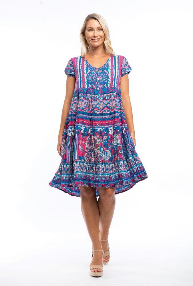 Caroline Dress in Tropez Blue