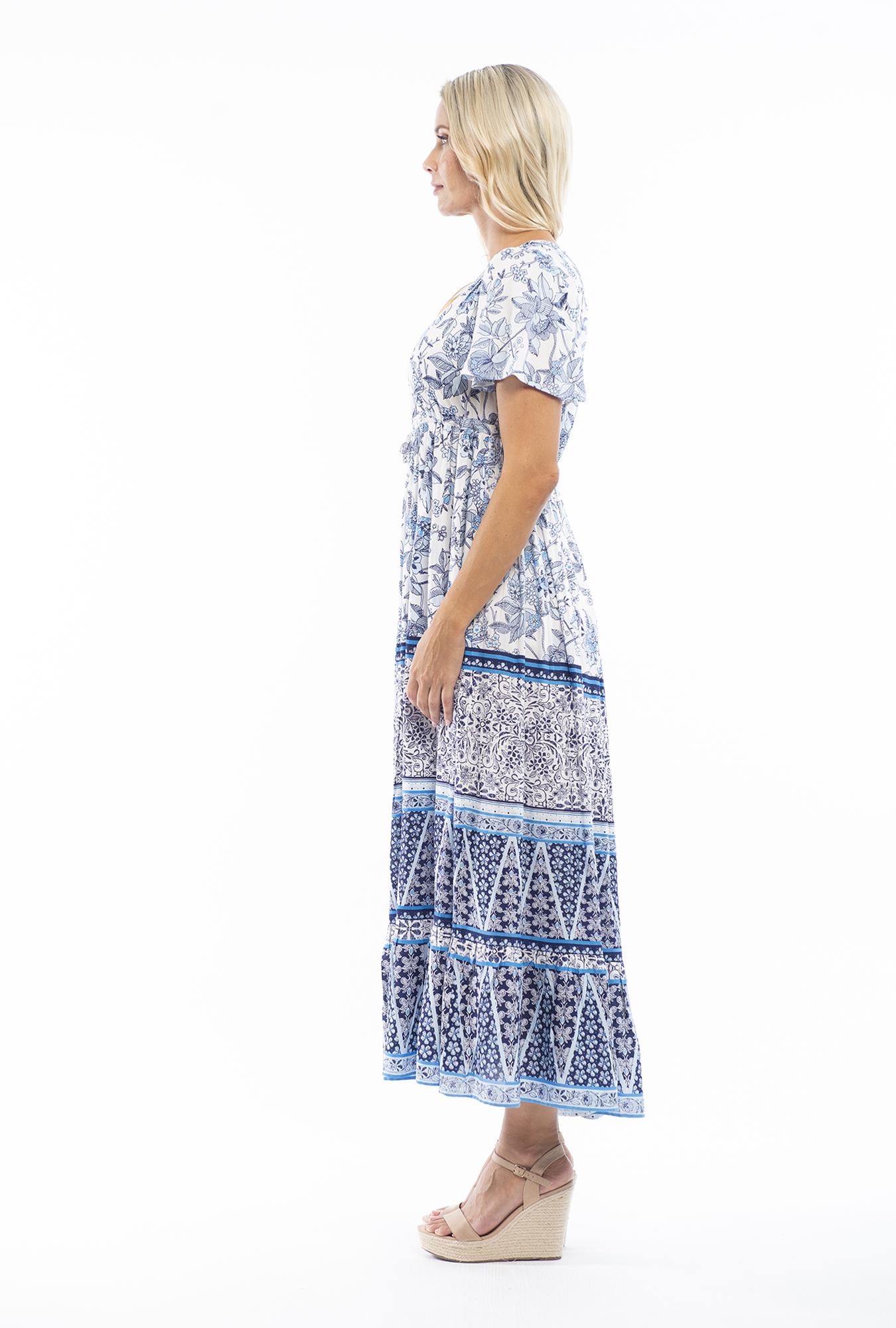 Indigo Maxi Dress in Avignon