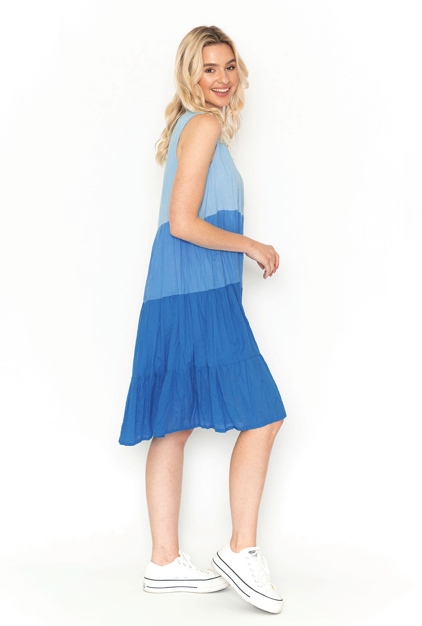 Stella Ombre Dress in China Blue