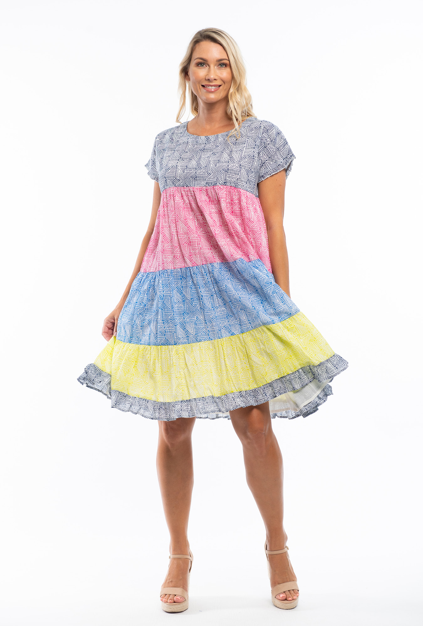 Cha-cha Dress in Mono Mix