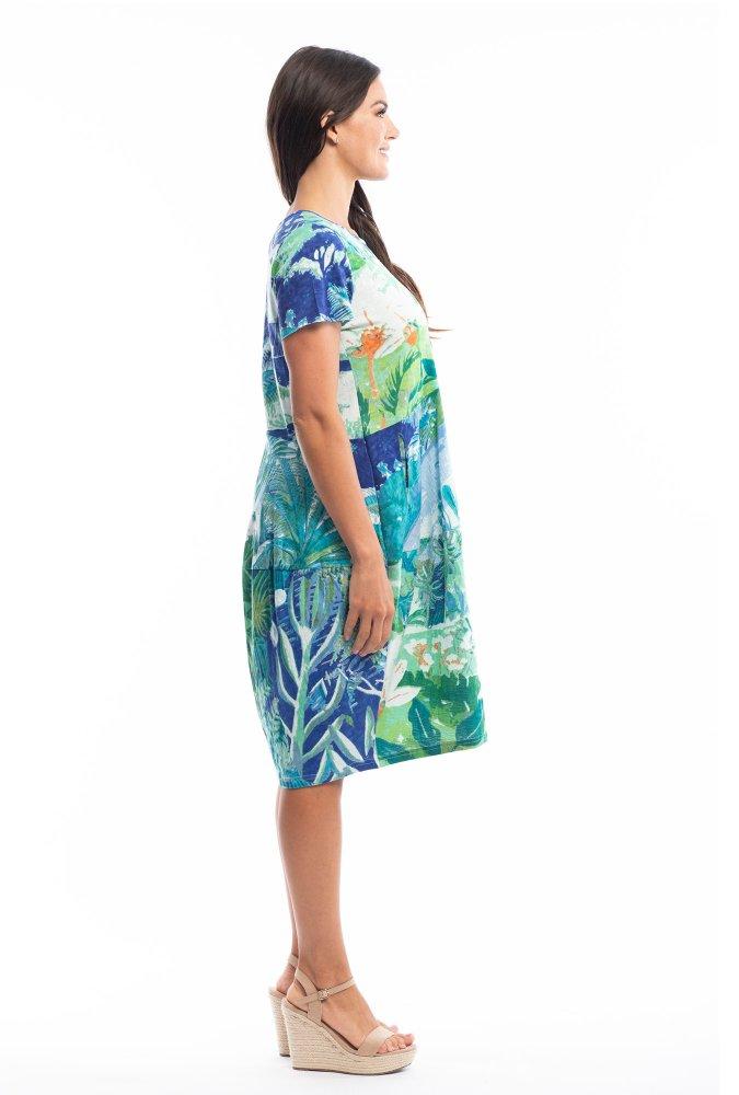Josie Dress in Secret Island Aqua
