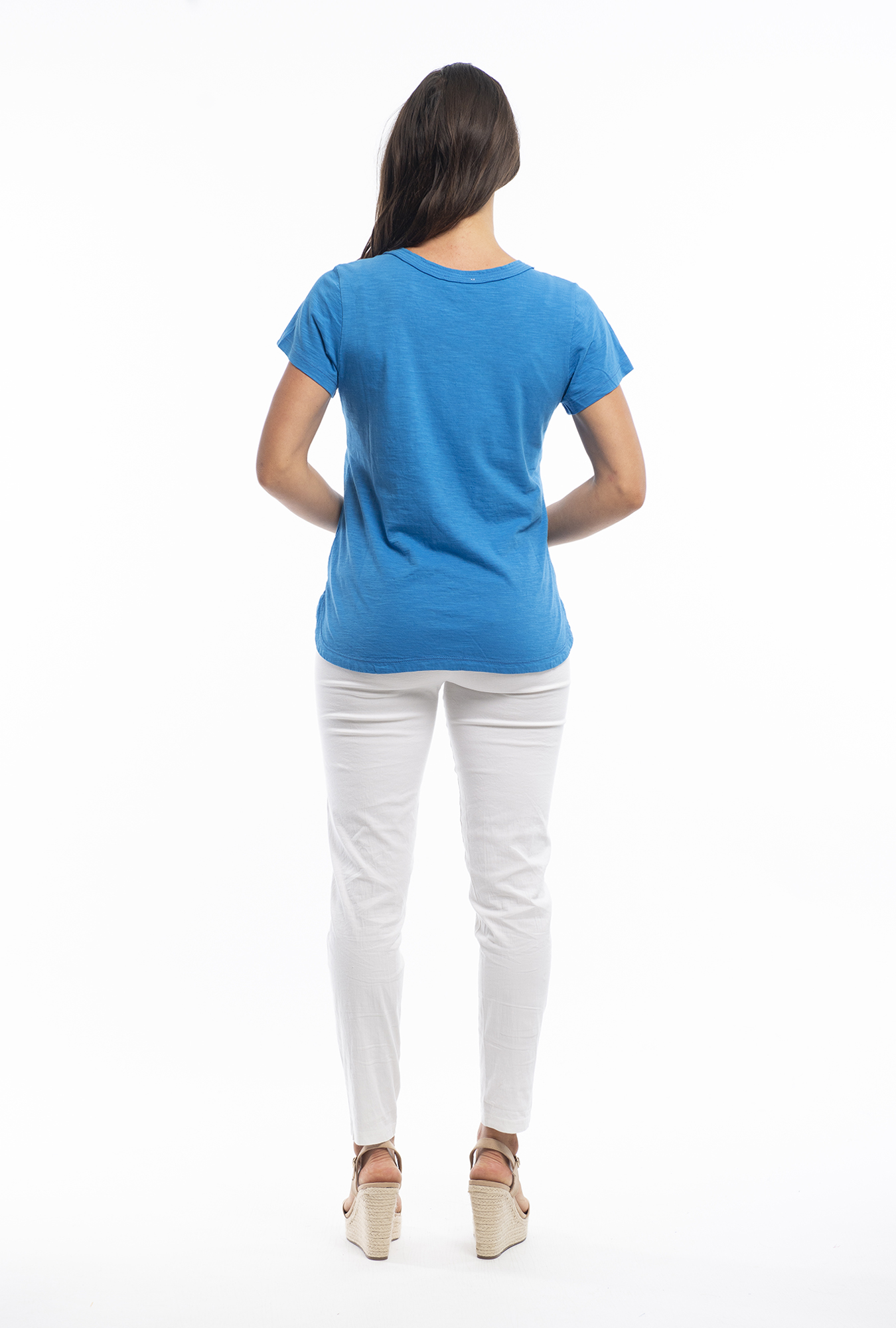 Holly Tee in French Blue