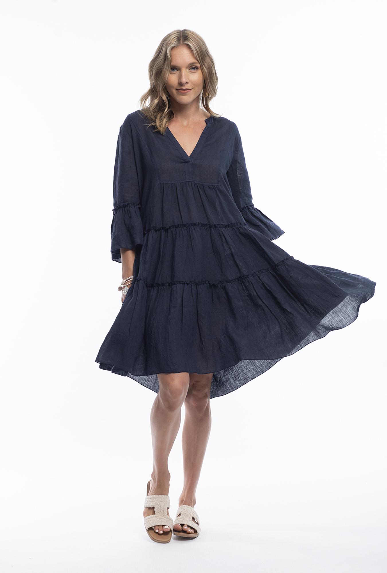 Margo Dress in Navy