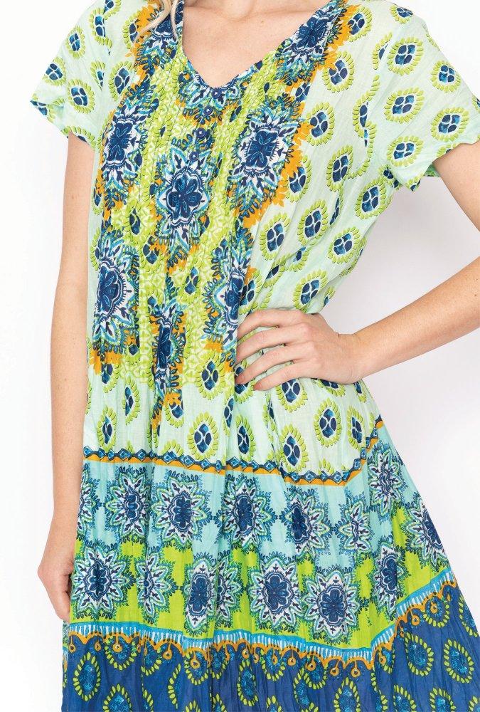 Marla dress in Aloe