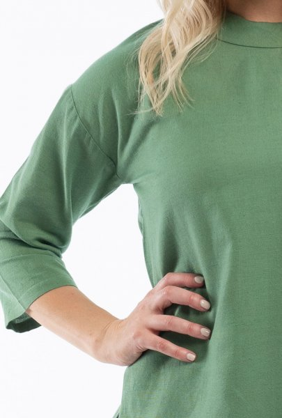 Olive Folded Neck Top