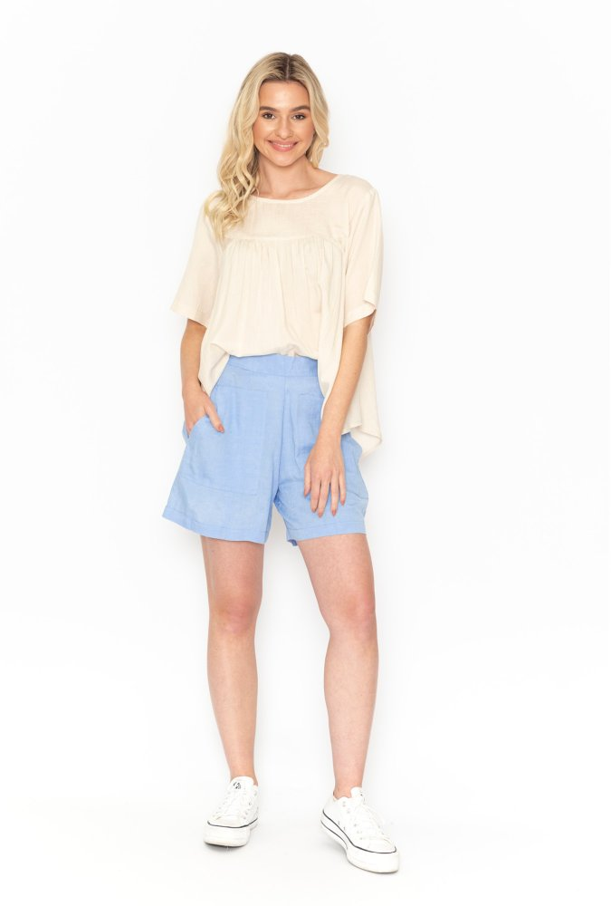 Luna Shorts in Chambray