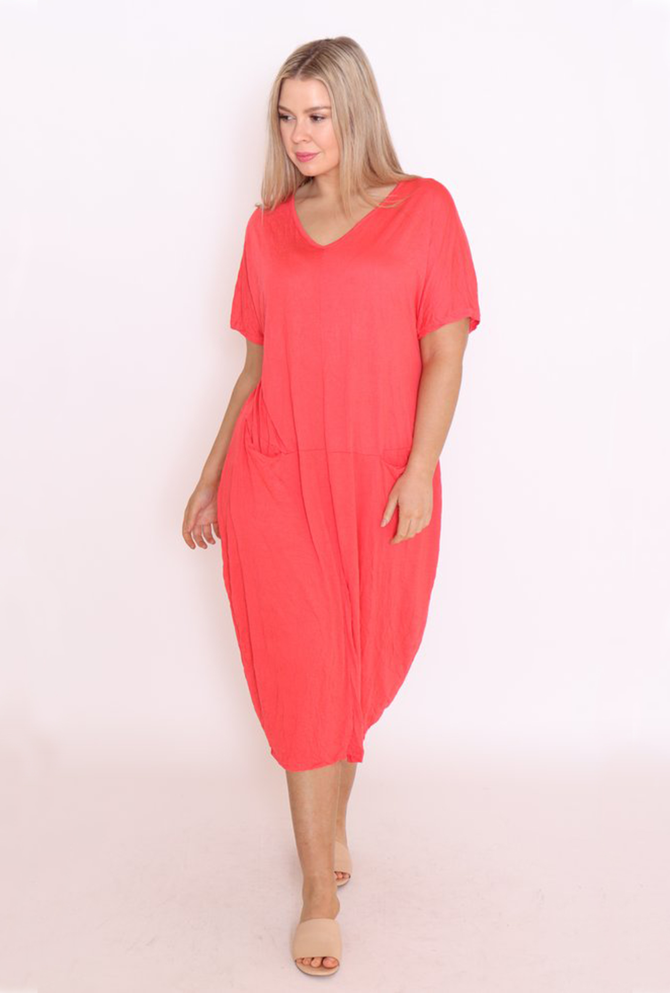 Claudia Dress in Melon