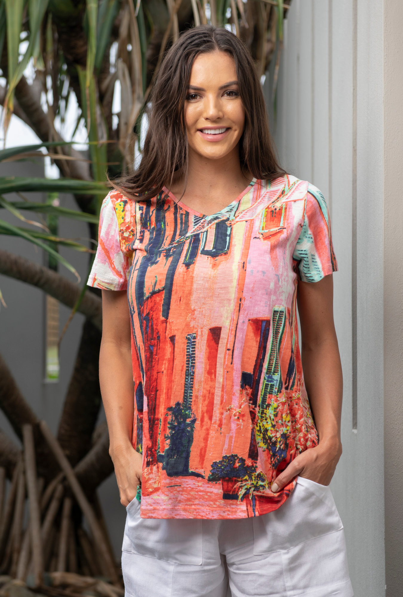 Karla Tee in Ville French Coral