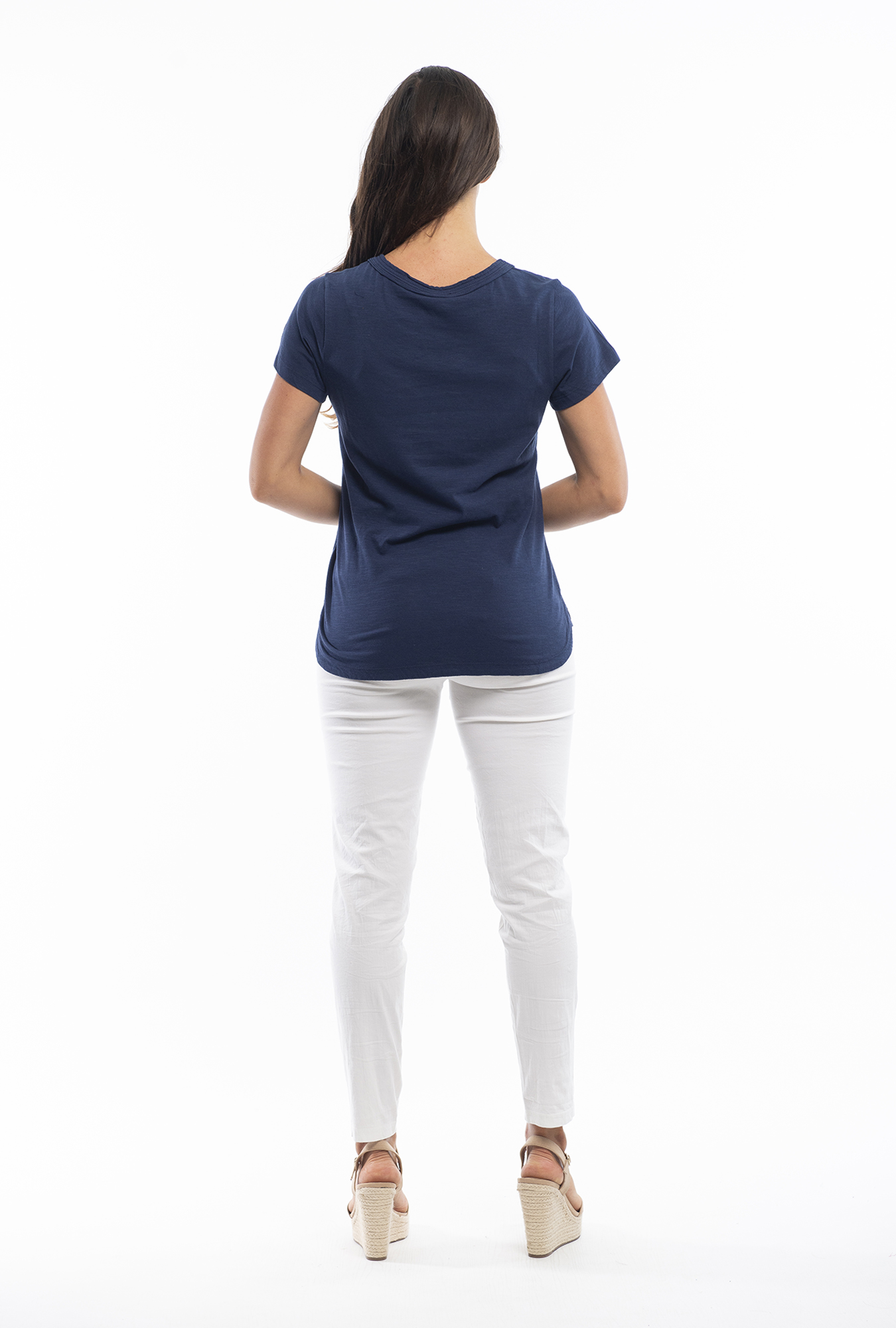 Holly Tee in Navy