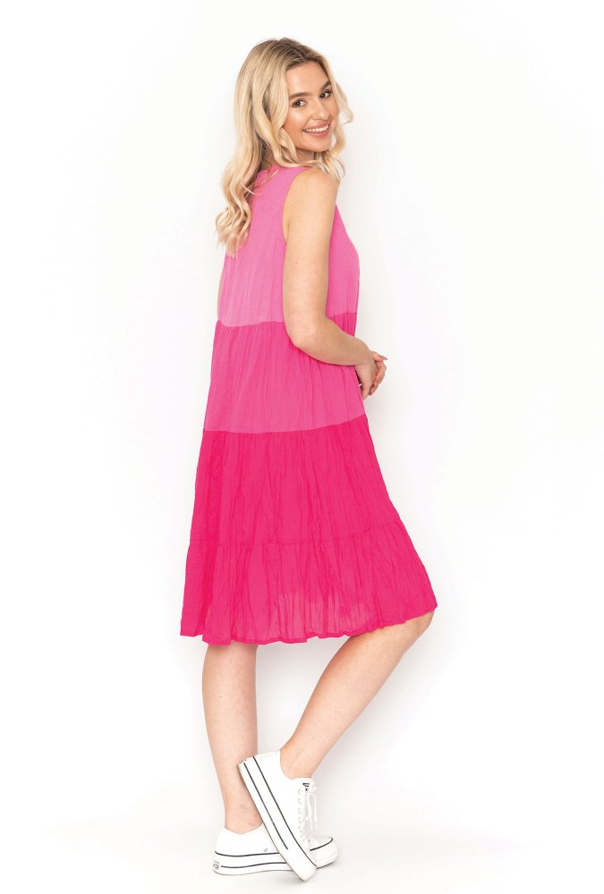 Stella Ombre Dress in Pink
