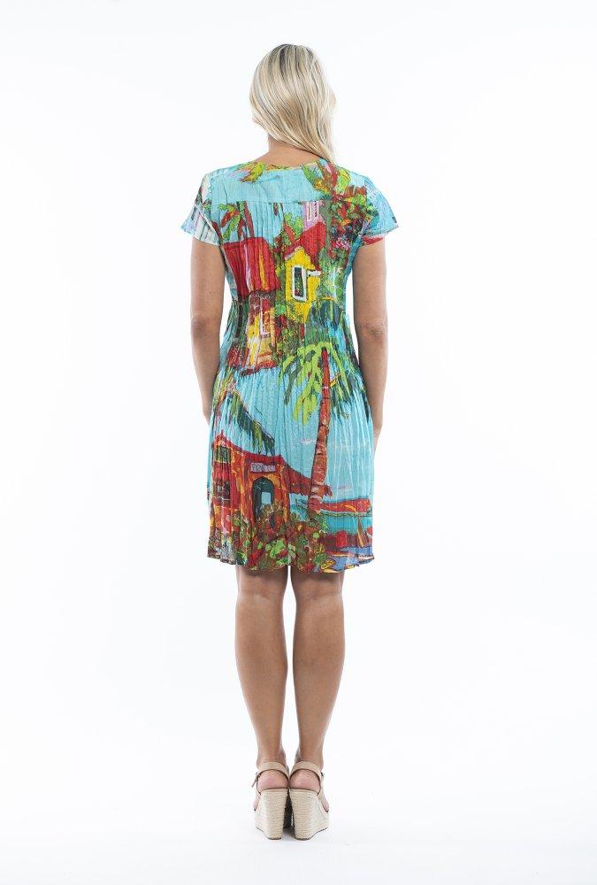 Anya Dress in Plage De Tahiti