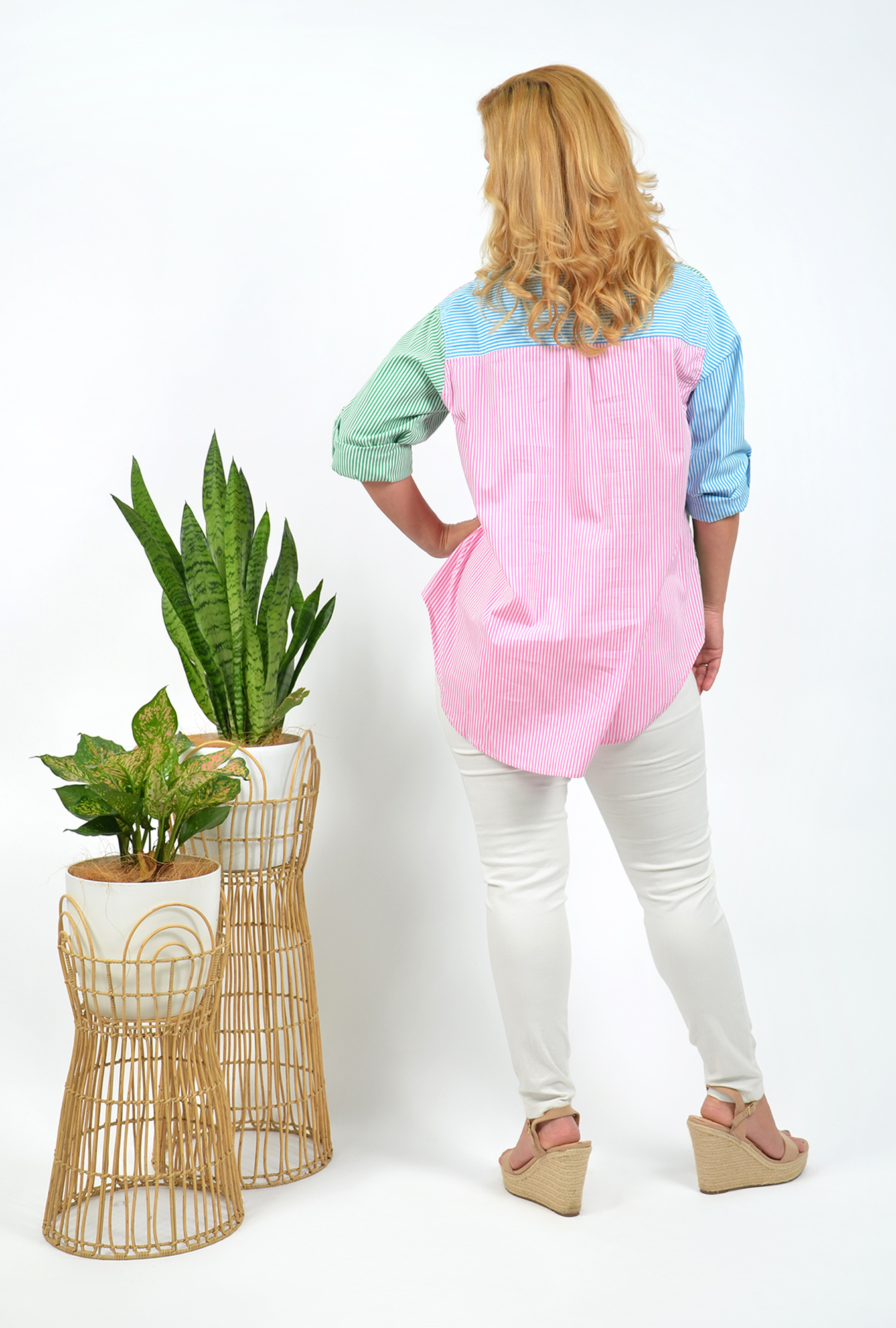 Joy Top in Pink, Green and Blue