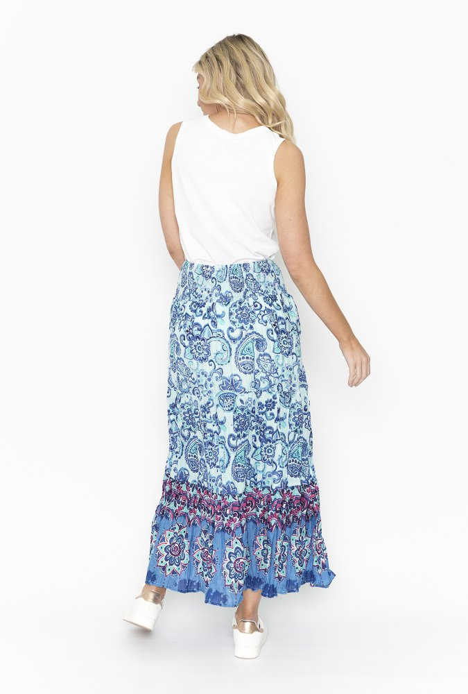 Willow Skirt in Blue Paisley