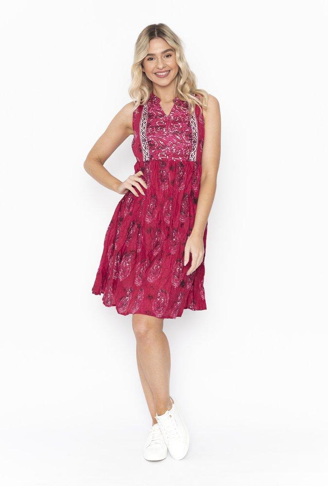 Alana Dress in Hot Pink