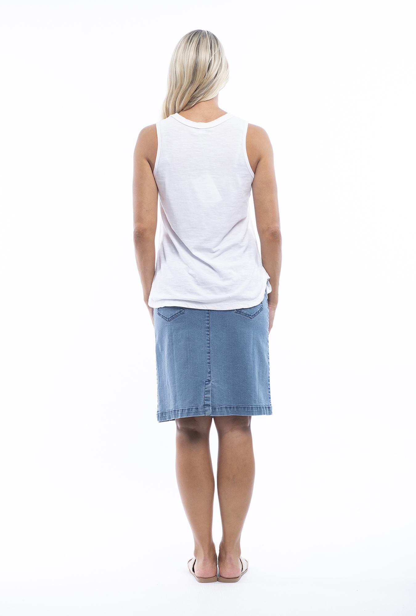 Amber Light Denim Skirt