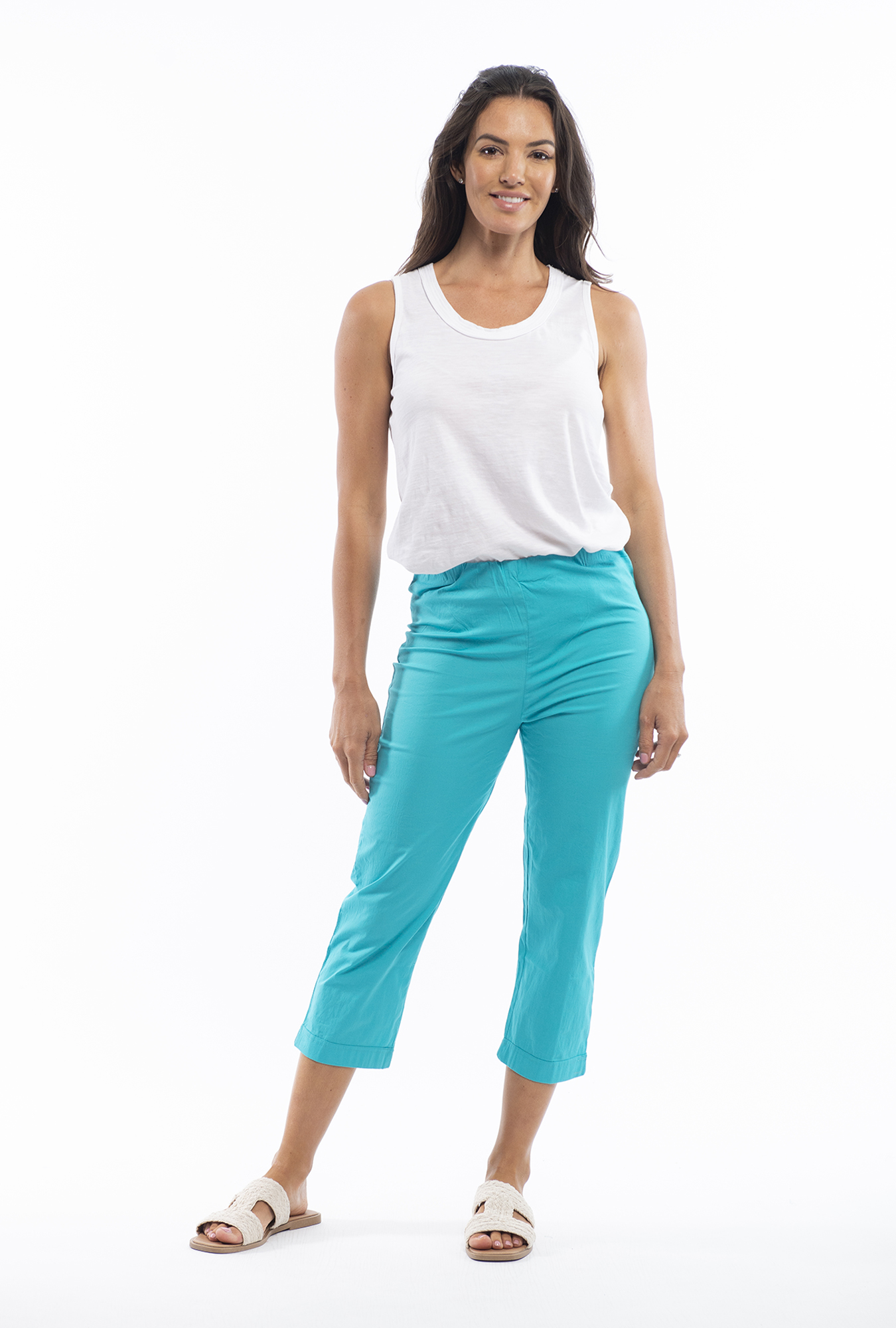 Angela Pant in Turquoise