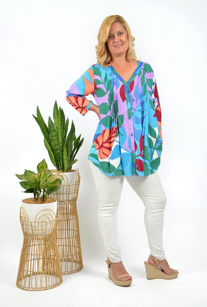 Christine Button up Top in Barbeyrolles